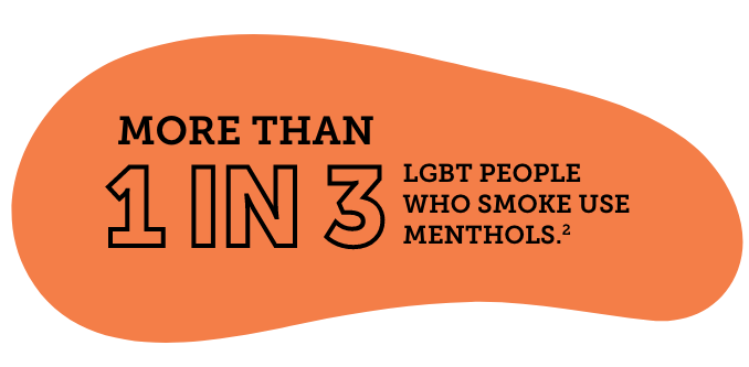 More than 1 in 3 LGBT people who smoke use menthols.2